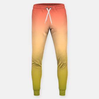 Miniature de image de Coral olive Ombre gradient summer mango green tropical colors Sweatpants, Live Heroes