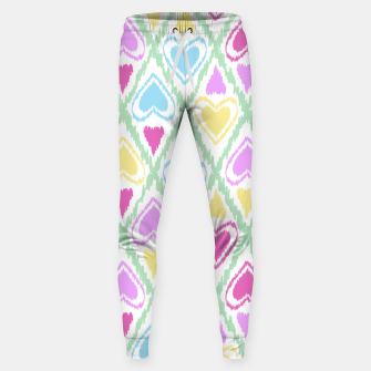 Thumbnail image of Multi Colored hearts ornament pastel kids childish scribble design Sweatpants, Live Heroes