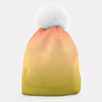 Thumbnail image of Coral olive Ombre gradient summer mango green tropical colors Beanie, Live Heroes