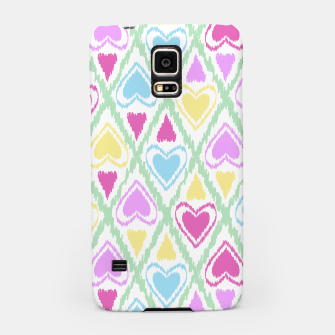 Thumbnail image of Multi Colored hearts ornament pastel kids childish scribble design Samsung Case, Live Heroes