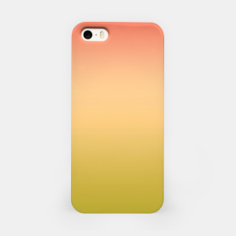 Miniature de image de Coral olive Ombre gradient summer mango green tropical colors iPhone Case, Live Heroes