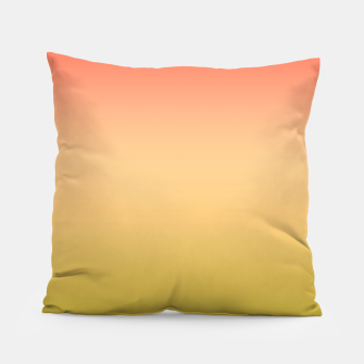 Miniature de image de Coral olive Ombre gradient summer mango green tropical colors Pillow, Live Heroes