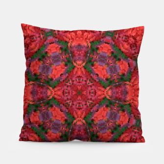 Thumbnail image of Ornament, ethnic, geometric tribal ornament mosaic kaleidoscope Pillow, Live Heroes