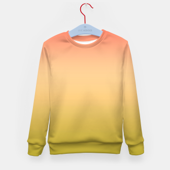 Miniature de image de Coral olive Ombre gradient summer mango green tropical colors Kid's sweater, Live Heroes