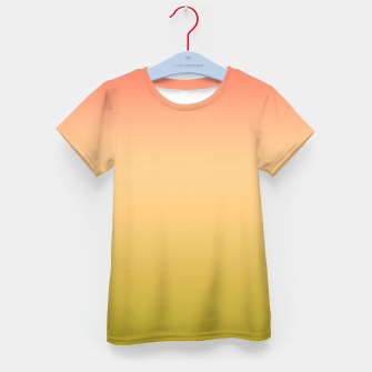 Miniature de image de Coral olive Ombre gradient summer mango green tropical colors Kid's t-shirt, Live Heroes