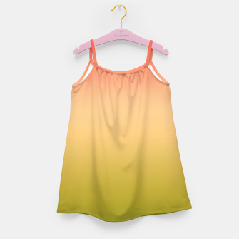 Miniature de image de Coral olive Ombre gradient summer mango green tropical colors Girl's dress, Live Heroes