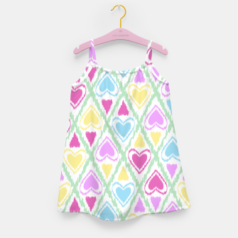 Imagen en miniatura de Multi Colored hearts ornament pastel kids childish scribble design Girl's dress, Live Heroes