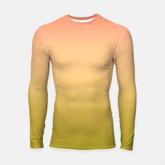 Thumbnail image of Coral olive Ombre gradient summer mango green tropical colors Longsleeve rashguard , Live Heroes