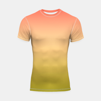 Thumbnail image of Coral olive Ombre gradient summer mango green tropical colors Shortsleeve rashguard, Live Heroes