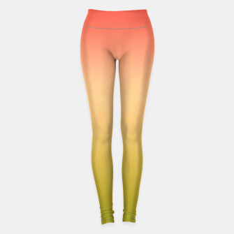 Miniature de image de Coral olive Ombre gradient summer mango green tropical colors Leggings, Live Heroes
