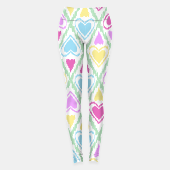 Miniature de image de Multi Colored hearts ornament pastel kids childish scribble design Leggings, Live Heroes