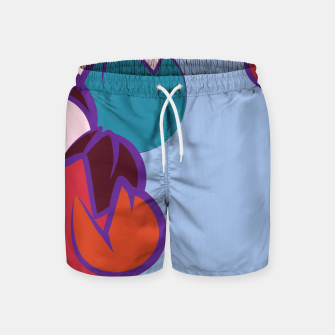 Thumbnail image of Shrine rain light blue Swim Shorts, Live Heroes