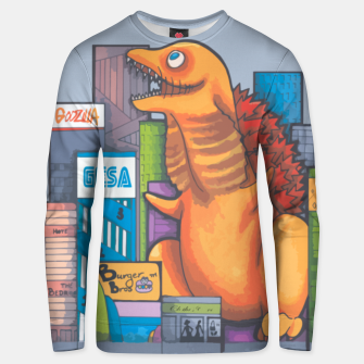 Thumbnail image of Goofzilla digital edit Unisex sweater, Live Heroes
