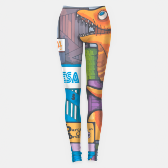 Thumbnail image of Goofzilla digital edit Leggings, Live Heroes