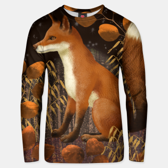 Thumbnail image of Fox under a Starry Night Unisex sweater, Live Heroes