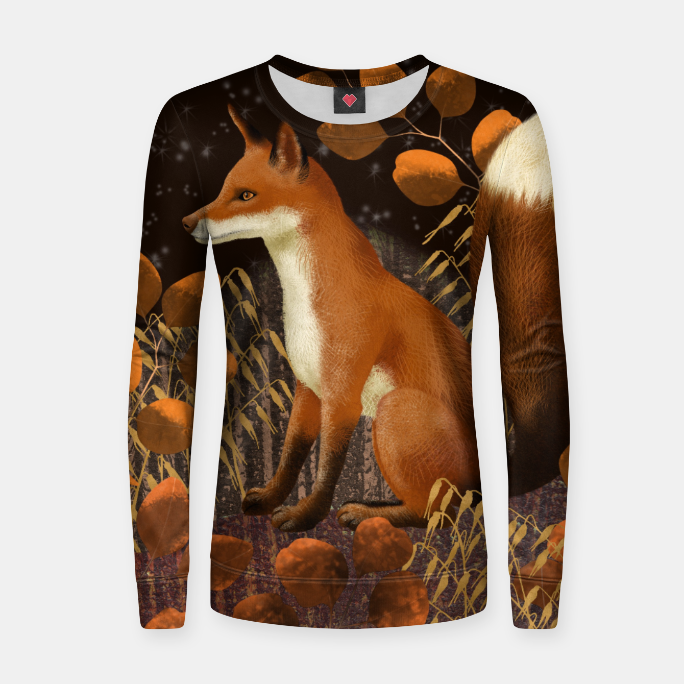 Image of Fox under a Starry Night Women sweater - Live Heroes