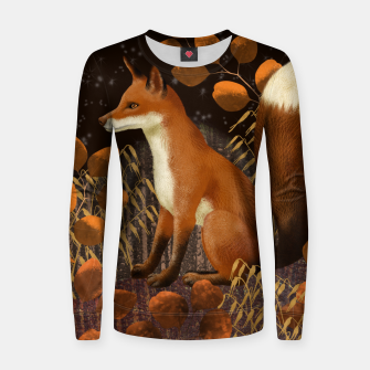 Thumbnail image of Fox under a Starry Night Women sweater, Live Heroes