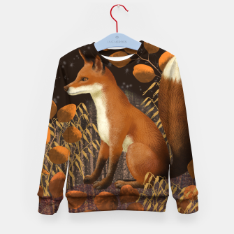 Thumbnail image of Fox under a Starry Night Kid's sweater, Live Heroes