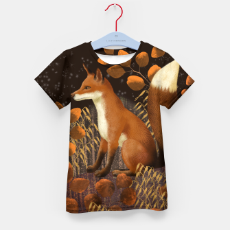 Thumbnail image of Fox under a Starry Night Kid's t-shirt, Live Heroes