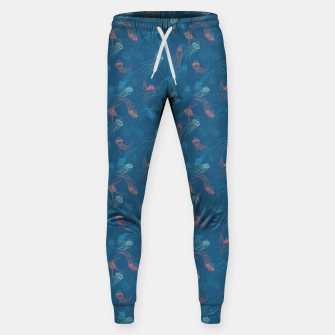 Thumbnail image of Magnificent jellyfishes dance on living coral sunset Sweatpants, Live Heroes
