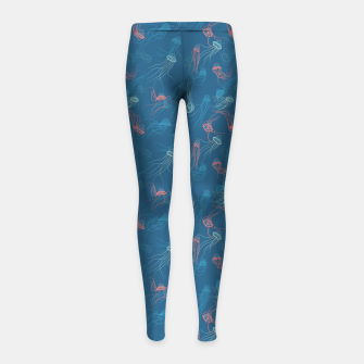 Miniature de image de Magnificent jellyfishes dance on living coral sunset Girl's leggings, Live Heroes