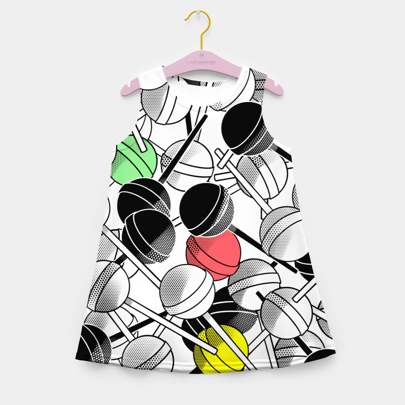 Image of LECCALECCA - Girl's summer dress - Live Heroes