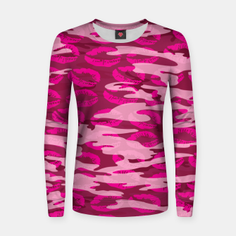 Imagen en miniatura de Girly Pink Camo Lips Pattern Women sweater, Live Heroes