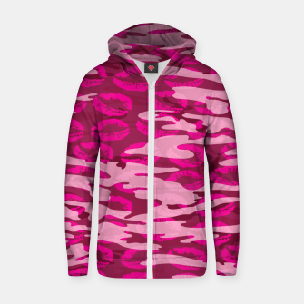 Imagen en miniatura de Girly Pink Camo Lips Pattern Zip up hoodie, Live Heroes