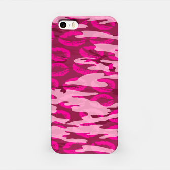 Imagen en miniatura de Girly Pink Camo Lips Pattern iPhone Case, Live Heroes