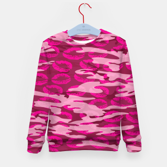 Imagen en miniatura de Girly Pink Camo Lips Pattern Kid's sweater, Live Heroes