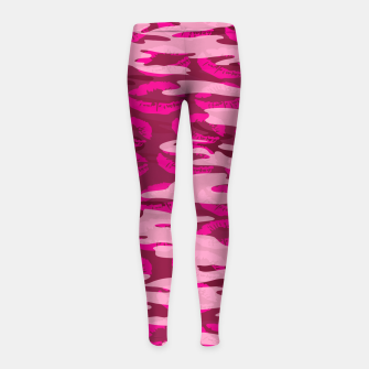Imagen en miniatura de Girly Pink Camo Lips Pattern Girl's leggings, Live Heroes