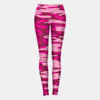 Imagen en miniatura de Girly Pink Camo Lips Pattern Leggings, Live Heroes