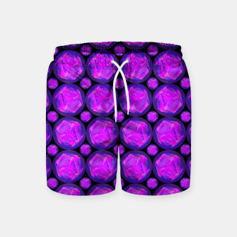 Miniatur Pink Art-I-Fact Swim Shorts, Live Heroes