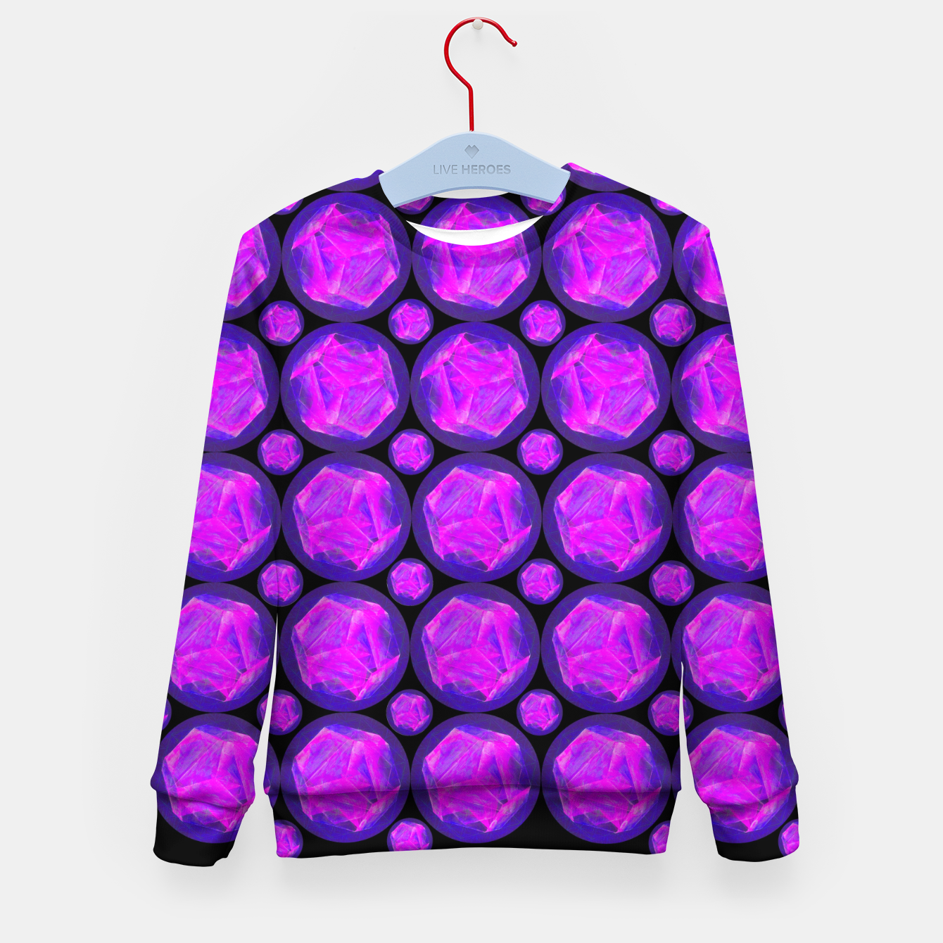 Image of Pink Art-I-Fact Kid's sweater - Live Heroes