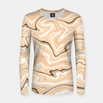 Miniatur Cappuccino marble stone pattern, abstract soft coffee shades illustration Women sweater, Live Heroes