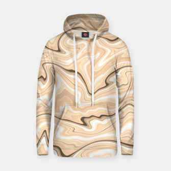 Thumbnail image of Cappuccino marble stone pattern, abstract soft coffee shades illustration Hoodie, Live Heroes