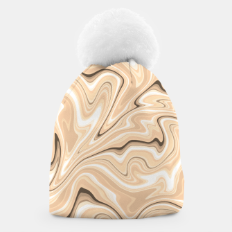 Thumbnail image of Cappuccino marble stone pattern, abstract soft coffee shades illustration Beanie, Live Heroes