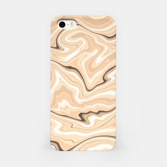 Thumbnail image of Cappuccino marble stone pattern, abstract soft coffee shades illustration iPhone Case, Live Heroes