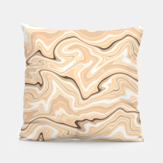 Thumbnail image of Cappuccino marble stone pattern, abstract soft coffee shades illustration Pillow, Live Heroes
