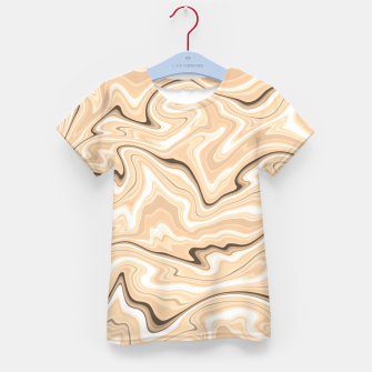 Thumbnail image of Cappuccino marble stone pattern, abstract soft coffee shades illustration Kid's t-shirt, Live Heroes