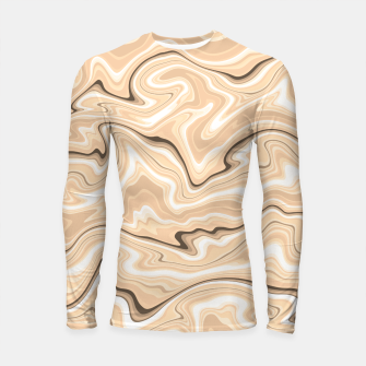Thumbnail image of Cappuccino marble stone pattern, abstract soft coffee shades illustration Longsleeve rashguard , Live Heroes