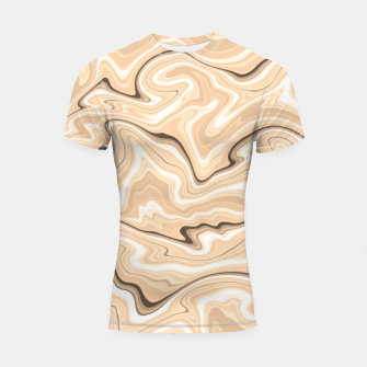 Thumbnail image of Cappuccino marble stone pattern, abstract soft coffee shades illustration Shortsleeve rashguard, Live Heroes