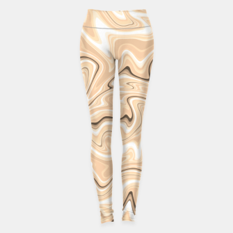 Thumbnail image of Cappuccino marble stone pattern, abstract soft coffee shades illustration Leggings, Live Heroes