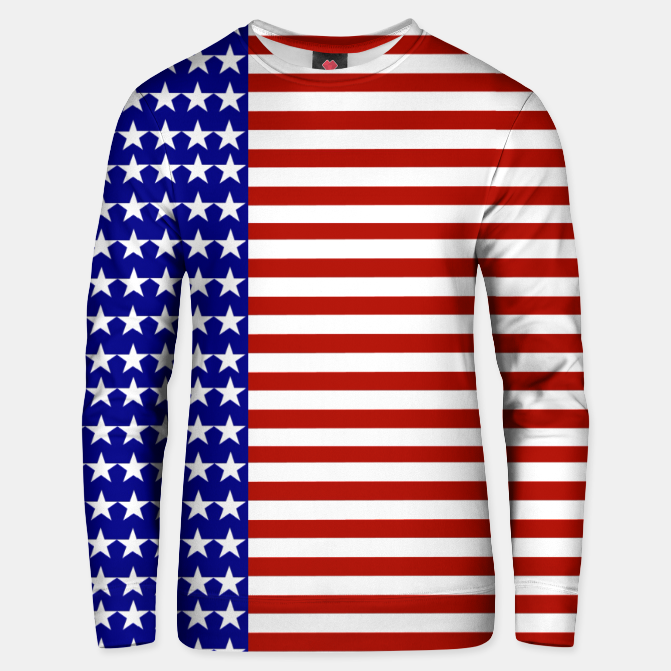Image of Patriotic Stars and Stripes Unisex sweater - Live Heroes
