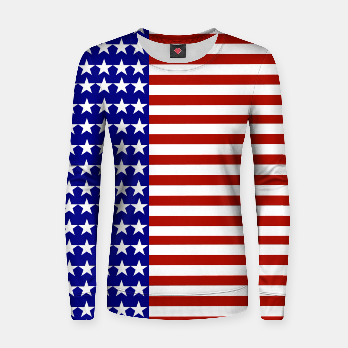 Image of Patriotic Stars and Stripes Women sweater - Live Heroes