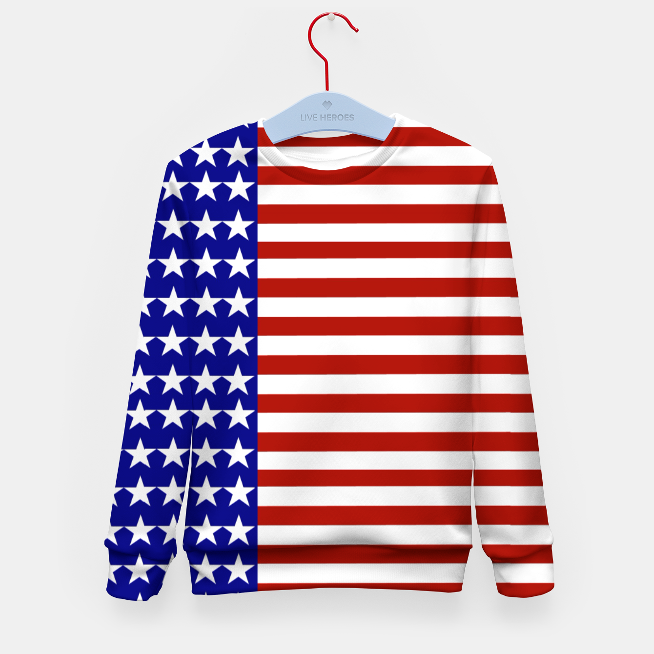 Image of Patriotic Stars and Stripes Kid's sweater - Live Heroes