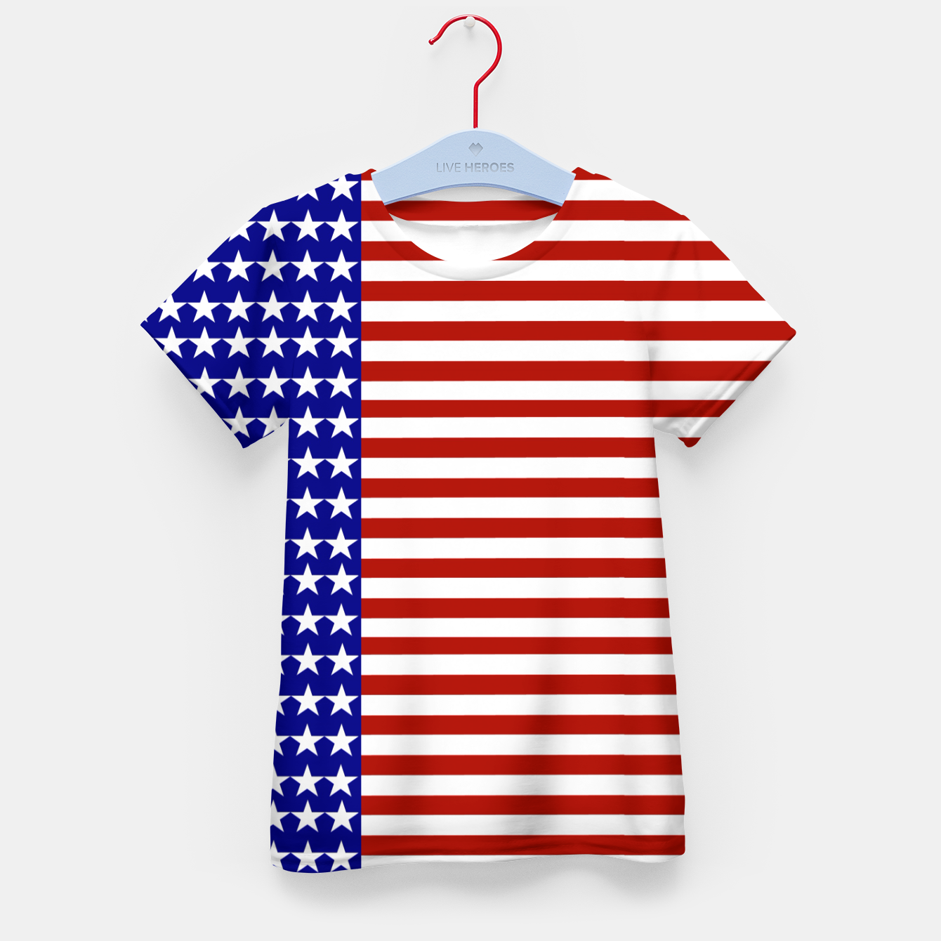 Image of Patriotic Stars and Stripes Kid's t-shirt - Live Heroes