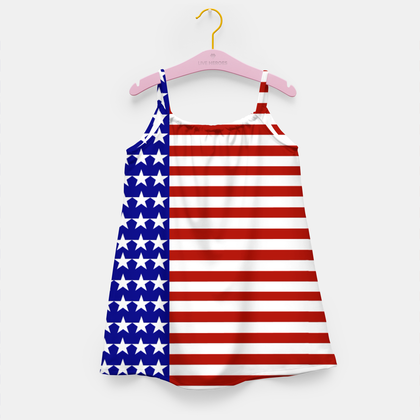 Image of Patriotic Stars and Stripes Girl's dress - Live Heroes
