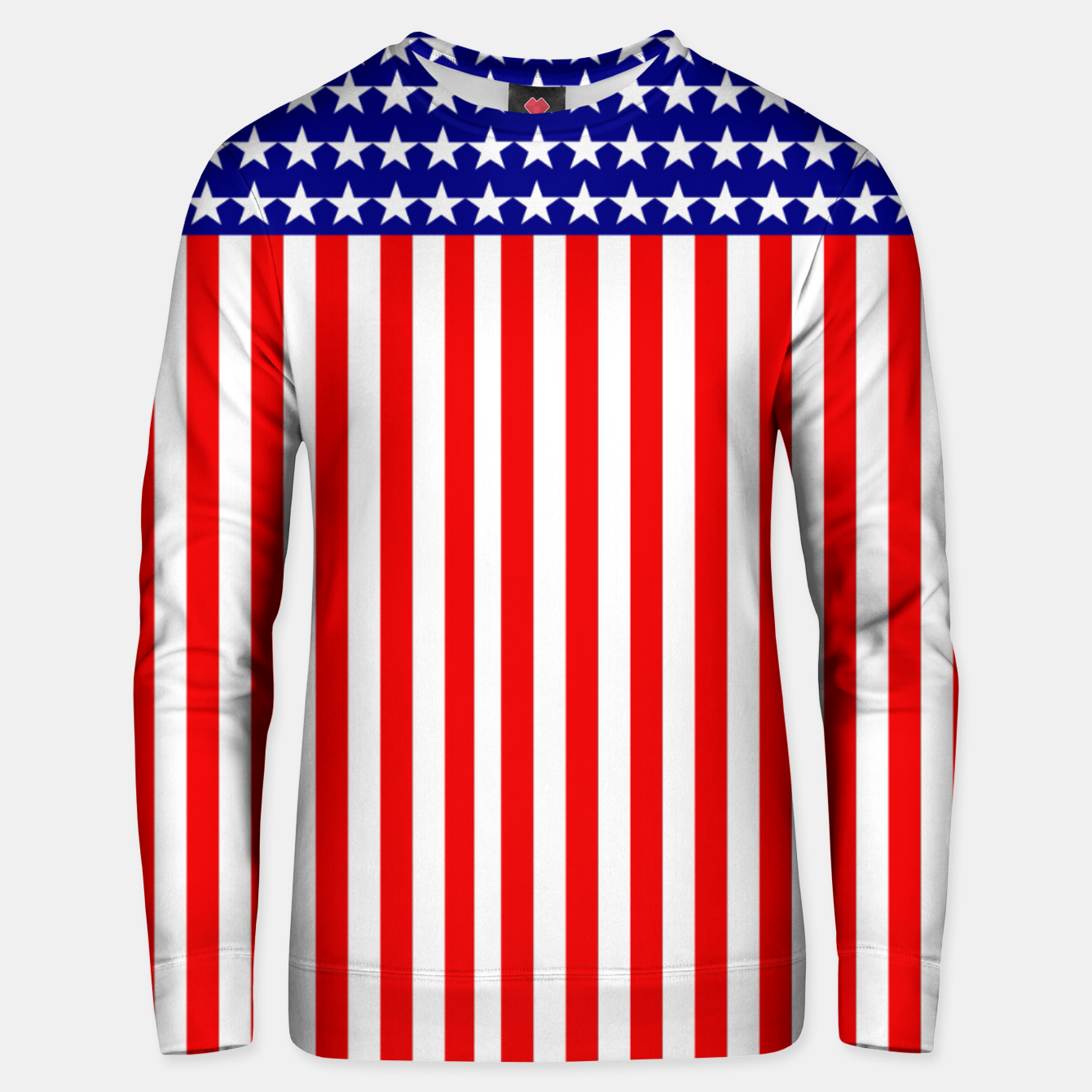 Image of Patriotic USA Stars and Stripes Unisex sweater - Live Heroes