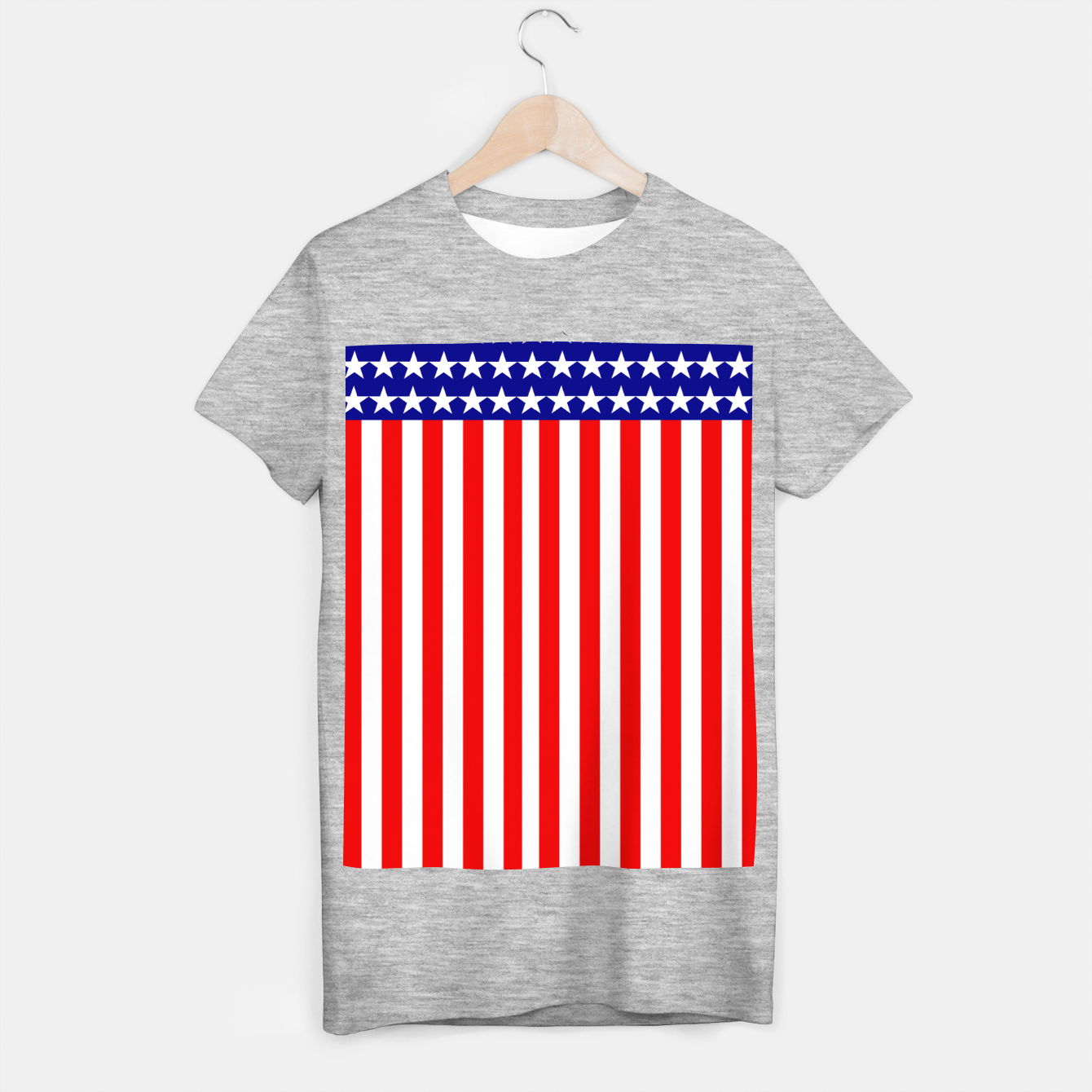 Image of Patriotic USA Stars and Stripes T-shirt regular - Live Heroes
